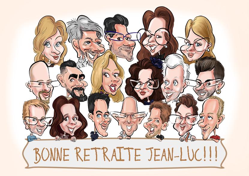 Caricature pour la retraite