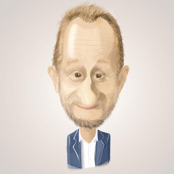 Caricature digitale de Benoît Poelvoorde