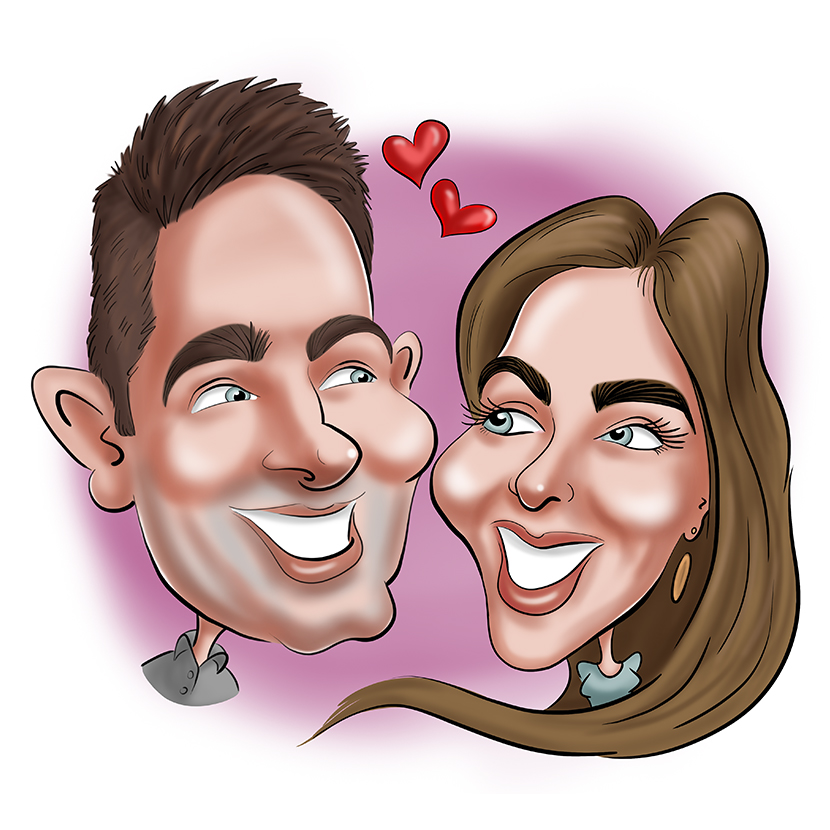 Caricature pour mariage